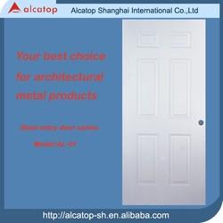alcatop AL-01 6 panel American style hot sale steel doors exterior doors