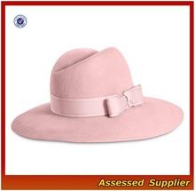 XJ0590/ Wool felt classic style spring hat /wholesale wool felt women hat