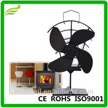 Heat powered wood stove fan