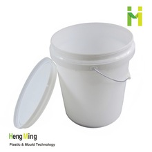5 gallon(20L) plastic Pail with metal handle