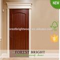 diseño personalizado de caoba prehung puerta de madera interior