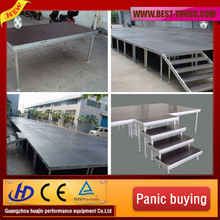 Factory price aluminum exhibition stage,retractable stage with mobile stage trailer
