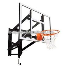 Logo Print Wall Folding Type Steel Plate Basketball System