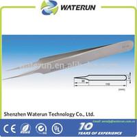 high precision stainless steel tweezers/straight tweezers/curved tweezers factory