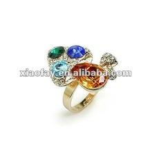 (072141) fashion engagement gold diamond wedding ring