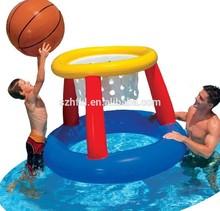 plastic pvc inflatable basketball goal for pool