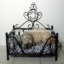 wrought iron princess dog bed, cat bed, metal frame pet bed