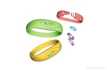 Promotional gift factory directly silicon wristband cheap bracelet usb flash drive, USB silicone wristband