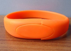 Bulk Cheap Silicon 8GB USB Flash Drives 4GB Silicon USB Bracelet / Wristband USB
