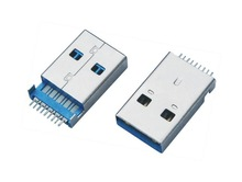 Dongguan factory made USB3.0 male 9pin SMT bottom mount PCBA used on flash drive USB 3.0
