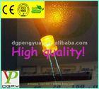 3mm flat top Orange cheapest dip LED(600-610nm)