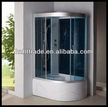 corner complete tempered glass bathroom steam shower cabin whirlpool