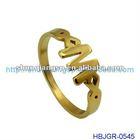 New Design Gold Alphabet Finger Ring