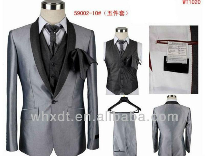 Luxe gris tuxedo costumes pour le marié 2013