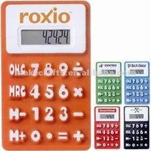 mini 8 digital LCD silicone foldable solar mini electronic calculator with magnet