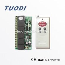 TDL-T6Aroom lights remote control switch rolling code 12v DC 6 channel