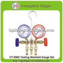 CT-536G-R12 & R22 Brass Refrigeration Testing Manifold gauge set