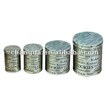 2012 New Design Round Series Metal Food Packaging Can With Item NO.CD-040