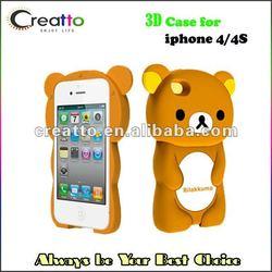 Cute 3D Rilakkuma Hard Case Cover for iphone 4/4S Case