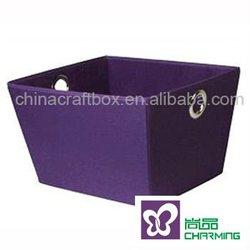2012 new purple eyelet storage tote /Storage Basket with eyelet/ storage box