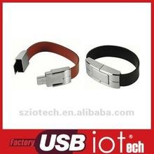Flash Memory Factory,1gb bracelet leather usb flash drive black