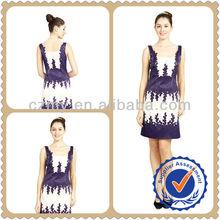 Classical Blue & White Beaded Fashion Evening Dress sexy short wedding dresses MY-12073