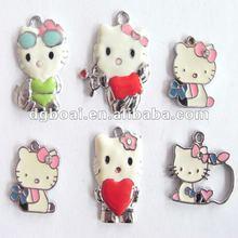 China factory zinc alloy enamel hello kitty wholesale charms