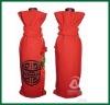 Cotton drawstring wine cooler bag for promotion