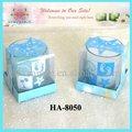 oceano di vetro supporto di candela riempita candela profumata set regalo