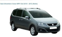 car rack whispbar for Seat Alhambra 5 door MPV Oct 2010 - 2012 (Rails)