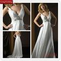 Goingwedding chiffon venda quente vestido de noiva deep v- pescoço sexy vestidos de noiva comimagens ac037 backless