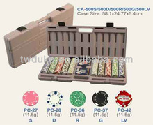 500 pcs poker chips with plastic case - 6 kinds style of poker chips for choice