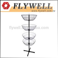 4-Basket Rotating Display Spinner Rack