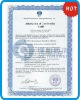 customed certificate with watermark