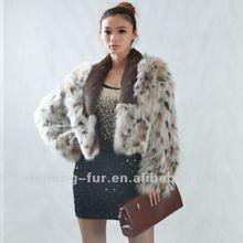 2013 new style women Rex rabbit&Fox Fur coat
