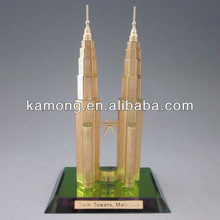 Exquisite Famous Glass Building Model For Crystal Petronas Towers