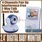 "2.4"" TFT LCD 2.4GHz Wireless Video 2 Way Talk Baby Monitor"