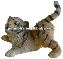 Polyresin baby tiger figurine
