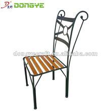 Elegant outdoor wooden & iron chairs YC000950