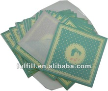 Yiwu China Wholesale 100% virgin 3ply personalized paper napkins party supplies