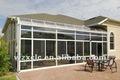 conservatorio de marco de aluminio y vidrio de seguridad de techo