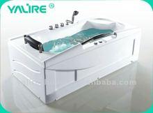 single massage with armrest whirlpool bathtub