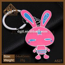 Fashion nice metal rabbit keychain wholesale