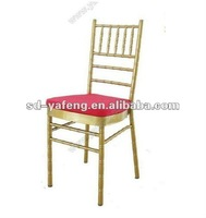 Hot sale gold chiavari chair Tiffany chair iron