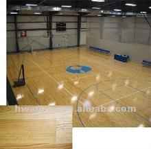 Wood Pattern Basketball Court PVC Flooring, PVC Sports Flooring