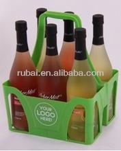 Popular &hot sale beer bottle plastic basket(RHB-605P)