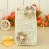 The Latest Design All Pearl Diamond Flowers Head Design Your Own Rhinestone Cell Phone Cases Wholesale