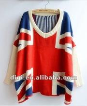 Gracefull Ladies Bat Sleeve Design Knitwear