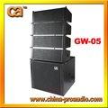 Pa de alta potência 500w subwoofer line array gw-05
