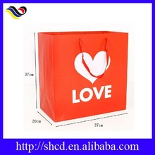 high printing coated paper bags for shopping